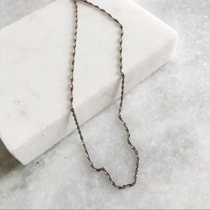 """Vintage Sterling Silver Cable Chain Necklace 17.5"""""""
